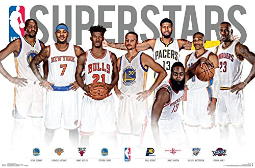 "Trends International NBA Superstars Wall Poster 22.375"" x 34"