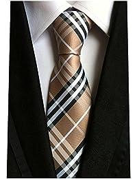 Woven Classic Check Business Tie Men's Party Necktie Formal Plaid Ties