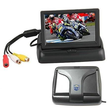 BW Monitor digitale pieghevole per fare retromarcia con l/'auto con schermo TFT LCD