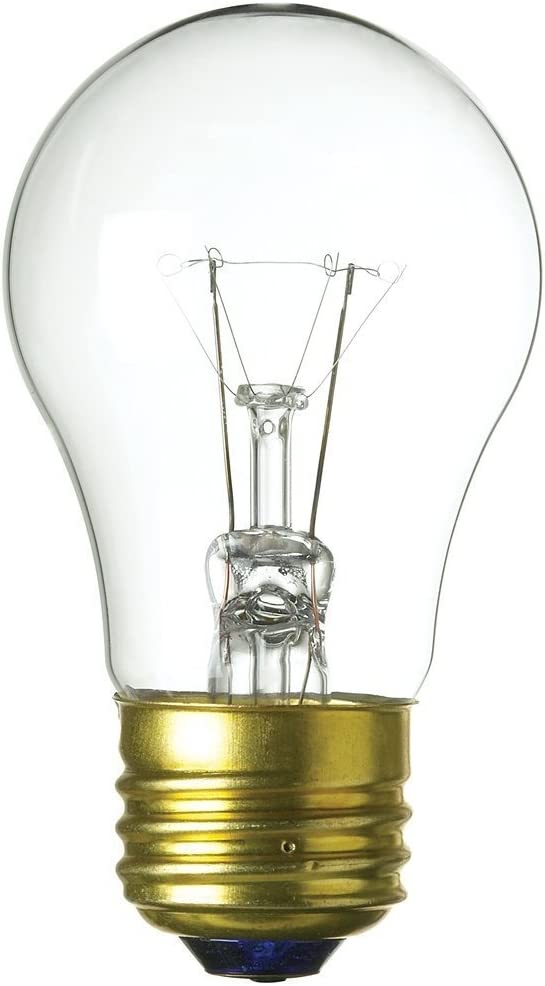 Feit Electric 40a15/Cl-130 40 Watt Clear A15 Appliance & Fan Light Bulb 4 Count