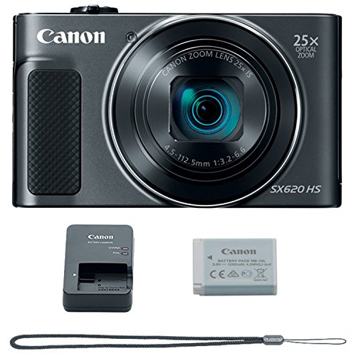 Canon PowerShot SX620 Digital Camera w/25x Optical Zoom - Wi-Fi & NFC Enabled (Black) (Digital Camera Nfc)