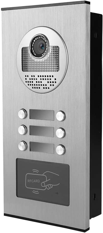 Wifi Inteligente de 7 pulgadas Videoportero Timbre de la puerta Sistema de control de acceso RFID Intercomunicador de doble v/ía Timbre de visi/ón nocturna EU