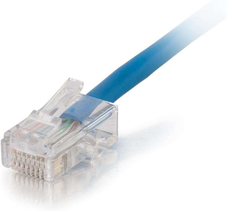 - Blue UTP C2G 35ft Cat5e Non-Booted Unshielded Network Patch Cable Plenum Rated