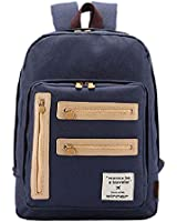 Artone Large Capacity Fashion Leisure Multiple Interior Pockets School Backpack With Laptop Compartment Deep Blue
