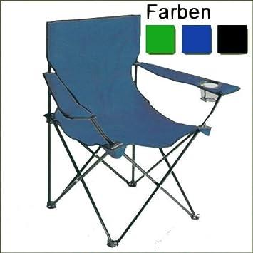 Campingstuhl Faltstuhl Blau Angeln Zelten Festival