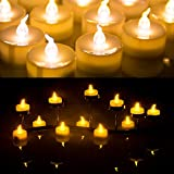 24 Battery (included) Operated Flameless Yellow Tealight Candles with Timer Feature