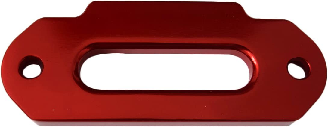 Red 4000lbs 4.8 ATV Fairlead,Aluminium Hawse Fairlead for Synthetic Winch Rope,4x4 Offroad