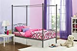 DHP Metal Canopy Bed with Sturdy Bed Frame - Twin