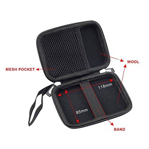 Elvam EVA Shockproof Waterproof Portable Hard Drive Case Bag / Cable Case Bag / USB Flash Drive Case Bag / Power Bank Case Bag / GPS Case and Digital Camera Case - Pink by Elvam (Image #4)