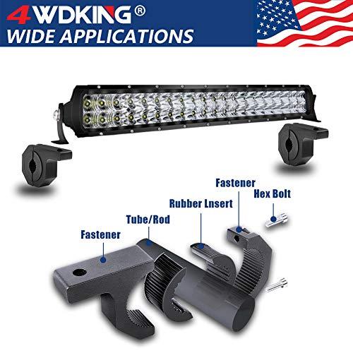 4WDKING 2PCS 0.75//1//1.25 LED Light Bar LED Pods Fog Driving Lights Brackets for Bull Bar Tube Roof Roll Cage Holder Headache Rack Mount. Horizontal Bar Clamp Mounting Kit