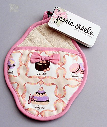 Jessie Steele French Pastries Scalloped Pot Mitt with -