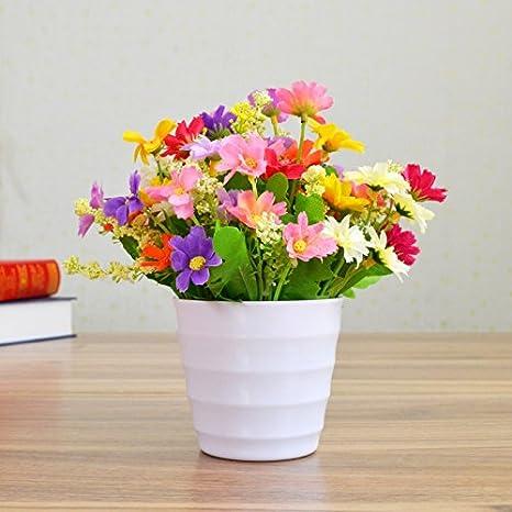 Kphy Flores De Seda Flores Secas Bouquet Plástico Imitación