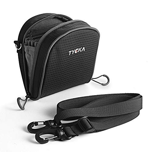 TYCKA Filters Pouch for Filters Up to 86mm, Belt Style Design Filter Bag, Removable Inner Lining Water-Resistant and Dustproof Design with Adjustable Shoulder Strap for 10 Round Filters Black from TYCKA