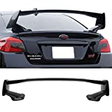 Trunk Spoiler Fits 2015-2018 Subaru WRX STI | OE Style Unpainted Black ABS Trunk Boot Lip Spoiler Wing Deck Lid Other Color Available By IKON MOTORSPORTS | 2016 2017