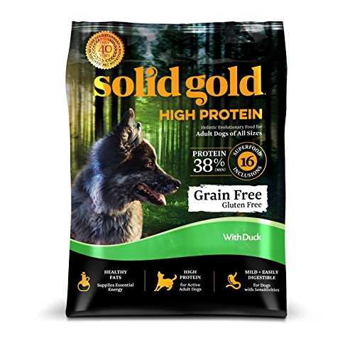 Solid Gold High Protein Dry Dog Food; Grain-Free with Real Duck; 4 lb