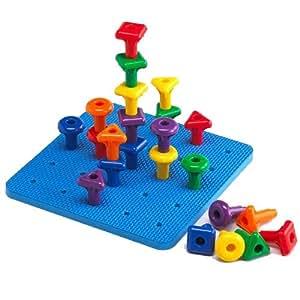 Amazon.com: EAI Education Giant Geo Pegs & Peg Board: Toys ...