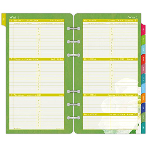 Day-Timer Weekly Planner Refill 2016, 12 Months, Wirebound, Portable Size, 3.75 x 6.75 Inches, Flavia (09636)
