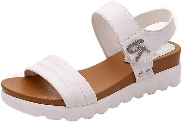 Sandalias Mujer, Sandalias de Vestir Sandalias Planas de Mujeres Calzado cómodos Zapatos al Aire Libre Zapatillas de Playa Mujer: Amazon.es: Zapatos y complementos