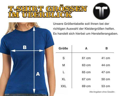 Touchlines - Camiseta - Manga corta - para mujer Azul