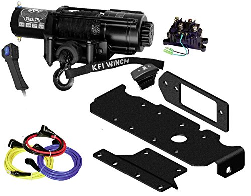 KFI Combo Kit - SE45w-R2 4500lbs Stealth Winch & Mount Bracket - 2016-2018 Honda Pioneer SXS 1000, 1000-5 -  KFI Products, SE45w-R2 & 101285