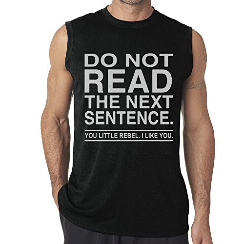 DianQ Do Not Read The Next Sentence Fashion Tee Sleeveless Black (Venezuela National Costume For Boys)