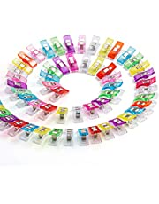 50 PCS Multipurpose Sewing Clips for Fabric, Colorful Plastic Wander Clips for Sewing Quilting Crafting Knitting
