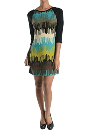 63833c5d6a8 Aryeh Ladies Printed Multi Color Sweater Dress at Amazon Women s Clothing  store