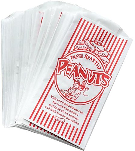 Outside the Box Papers Paper Peanut Bags - Red White - 100 Pack]()
