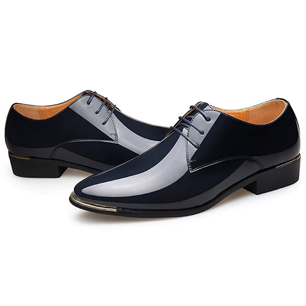 Feidaeu Cuir Verni Hommes Chaussures Habill/ées pour Hommes Chaussures de Style Italien Chaussures de Mariage Hommes Chaussures de Sport 38-47