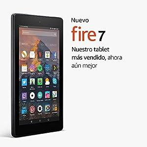 Nuevo tablet Fire 7, pantalla de 7'' (17,7 cm), 8 GB (Negro) - Incluye ofertas especiales
