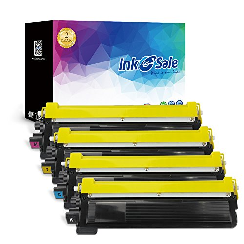 INK E-SALE Compatible Brother TN210 TN-210 Black Cyan Yellow Magenta Toner Cartridge for Brother HL-3040CN HL-3045CN HL-3070CW HL-3075CW MFC-9010CN MFC-9120CN MFC-9125CN MFC-9320CW MFC-9325CW (Series Yellow Compatible Toner)