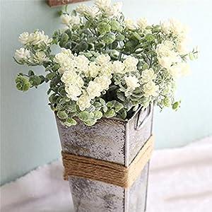 UNAKIM-Artificial Flowers Flocking Small Camellia Bridal Bouquet Wedding Decoration 89