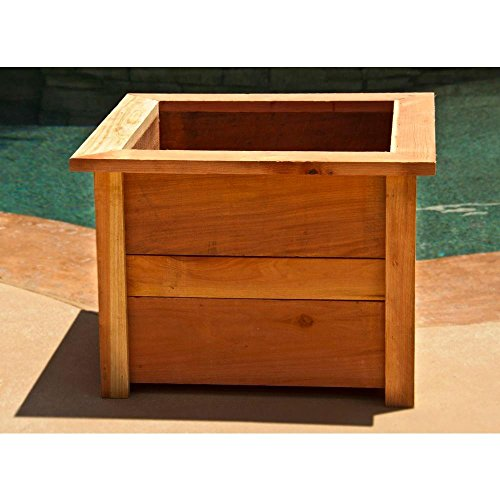 Hollis Wood Products 22 in. Square Redwood Planter ()