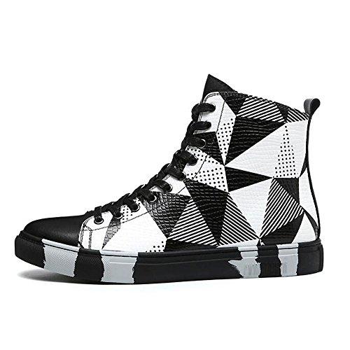 Herren freizeitschuhe kleid jugendliche outdoor mode] stiefel rutschen schwarze persönlichkeit-schwarz Fußlänge=41EU