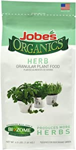 Jobe's Organics 09127 555831 Organic Herb Plant Food Gran4Lb, 4 Lb