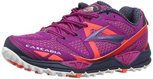 Entrainement Brooks Chaussures Fuchsia 9 Midnight Rose Coral Femme de Running Cascadia Women trrzYq
