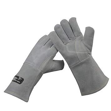 TYXHZL Calor Extremo y Guantes Resistentes al Fuego Cuero con Costura de Kevlar, Chimenea,
