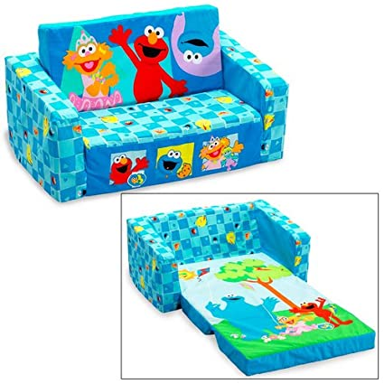 amazon com elmo and friends flip open sofa toys games rh amazon com Sesame Street Elmo Wooden Bed Elmo Couch