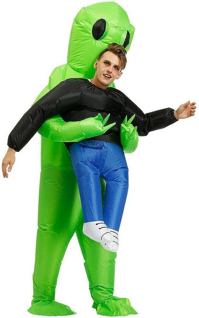 Disfraz inflable de Alien verde para adultos y niños, impermeable ...
