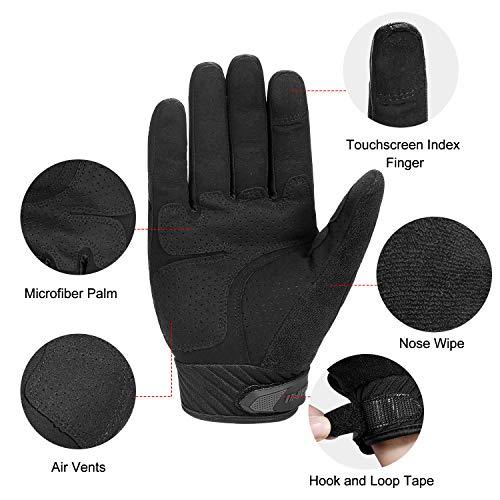 INBIKE Gants Moto Homologué CE à Écran Tactile pour Homme Coqués Plein Doigt Respirant Antichocs Antidérapants pour la… 4