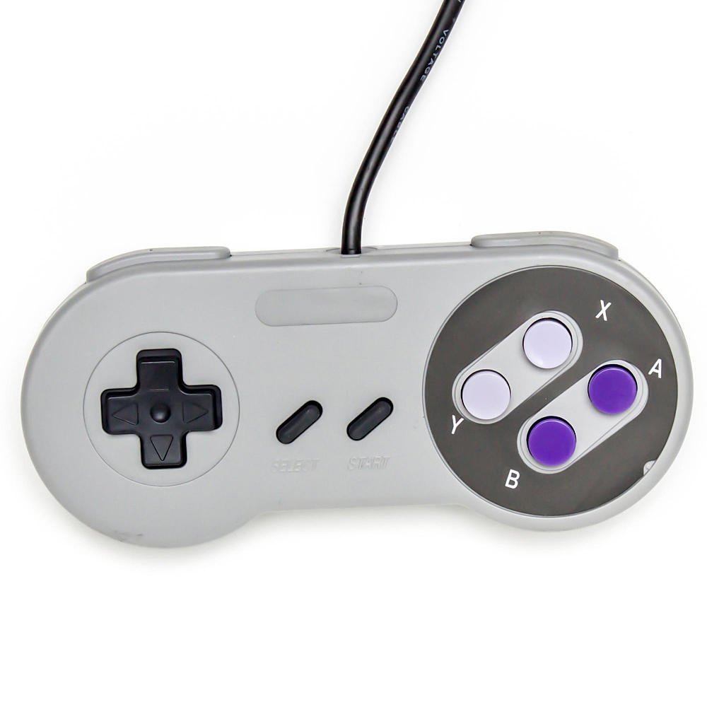 Amazon Com Old Skool Snes Super Nintendo Controller Game Pad Video