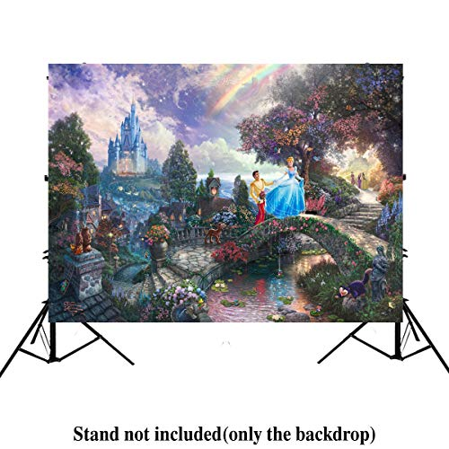 Fairy Tales Photographic Background 7x5ft Cinderella Princess Elegant Garden Photo Backdrop for BabyBirthday Party Wedding Backdrops for Photographers ()
