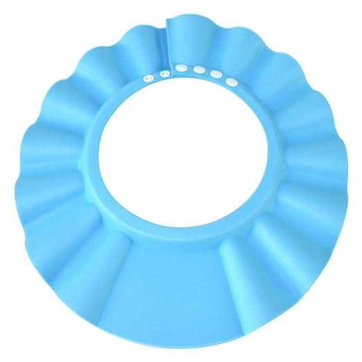 Kids Blue Baby Safe Shampoo Shower Bathing Protection Bath Cap Children for Toddler Adjustable Shower Cap /& Visor Hat Baby Silicone Shampoo Shower Bathing Cap Baby Shower Cap