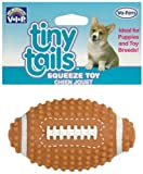 Vinyl Tiny Tails Spiked Football 3.5″ Dog Toy, My Pet Supplies