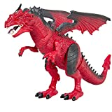 Dragon Kids Toy Walking Dinosaur T-Rex Toy with Real Movement, Light Up Eyes and Sounds, Christmas Gift