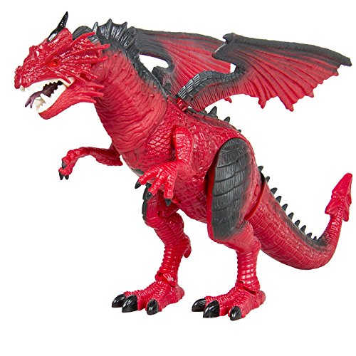 Dragon Kids Toy Walking Dinosaur T-Rex Toy with Real Movement, Light Up Eyes and Sounds, Christmas Gift -