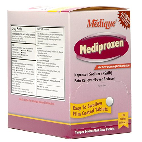 237-33 Mediproxen Tablets 100x1 by Medique Pharmaceuticals -Part no. 237-33