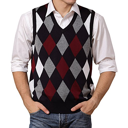 Wool Argyle Sweater - 1