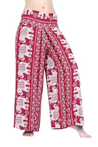 a pieghe Pantaloni gamba Red Elephant con Haream larga xZw8qZ