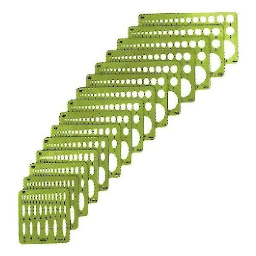 Alvin Small Series Ellipse Set of 15 (3902-02) (Elliptical Template)